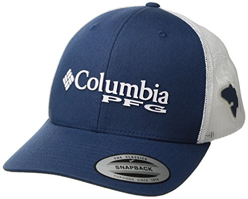 Columbia PFG Mesh Snap Back Ball Cap, Night Tide/Red Fish, One Size - Columbia Mesh Hat