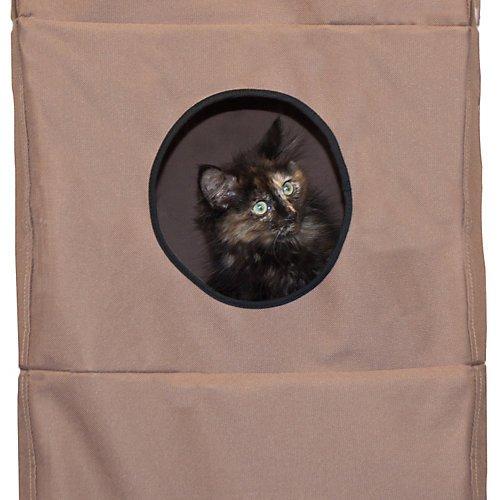 K&H Pet Products Hangin' Cat Condo Tan – Cat Tree that Mounts to Door