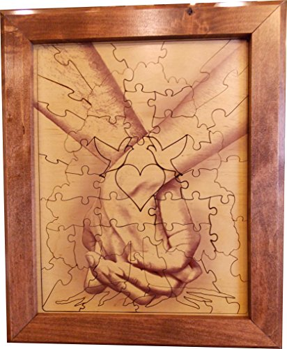 Wedding Guest Book Alternative Wood Puzzle ''Together Forever Tree Hand in Hand'' 14x17 Small 75 Piece by Together Forever Puzzle (Image #7)