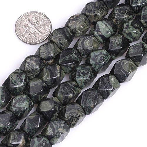 GEM-Inside Natural Facete Cube Kambaba Jasper Gemstone Loose Beads Natural 9x11mm Energy Stone Healing Power for Jewelry Making (Jasper 6mm Cube Gemstone Beads)
