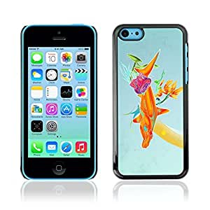 Colorful Printed Hard Protective Back Case Cover Shell Skin for Apple iPhone 5C ( Abstract Color Illustration )