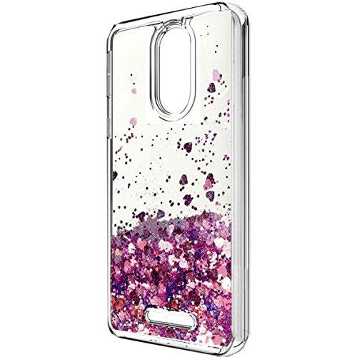T-Mobile Revvl Plus case, Skmy Liquid Glitter Sparkle Girl Women Cute Clear TPU+Shockproof Hard PC Protective Case for T-Mobile/Coolpad Revvl Plus 6 (Not for Alcatel Revvl)