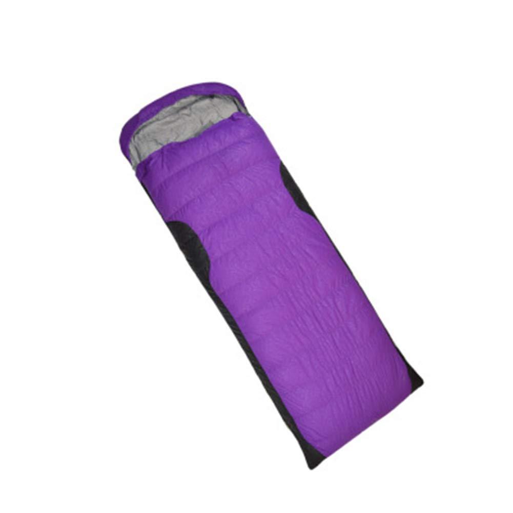 Qys Enveloppe Ultra-Léger De Plein Air portable vers Le Bas Sac De Couchage avec Sac De Compression Adulte Imperméable Coupe-Vent Garder Au Chaud,violet,0.4Kg