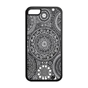 diy phone case5C Phone Cases, Black and White Mandala Hard Cover Case for iphone 6 plus 5.5 inch Designed by HnW Accessoriesdiy phone case