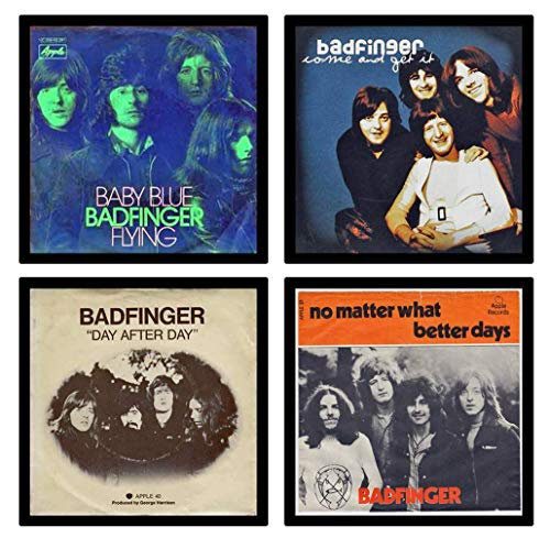 Handmade by Senor Swag ~ Badfinger - Collectible Coaster Gift Set #1 ` By Senor Swag ~ (4) Different Album Covers Reproduced on Soft Pliable Coasters