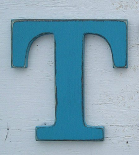 pick ANY letter of alphabet T 10 inch or 14 inch painted wood letter pick your color