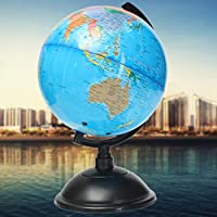 New 20cm Blue Ocean World Globe Map With Swivel Stand Geography Educational Toy Gift By KTOY