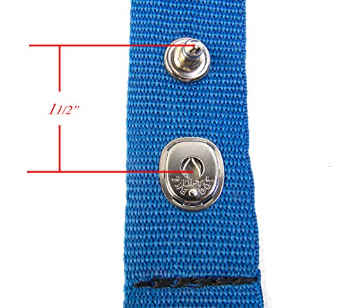 """Extender Strap for Your Boat Cover, Lift The Dot Snap, Adds 1.5"""" Inches Finger Loops Built In, 1 Each"""