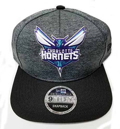 NBA Charlotte Hornets Heather Huge Snap 9Fifty Original Fit Cap, One Size, (Hornets Snap)