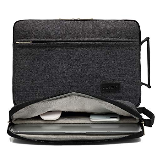 KAYOND Nylon Fabric 13.3 Inch Laptop Sleeve case for 12.5 inch 13inch Notebook Computer 12.9 Pocket Tablet-Black