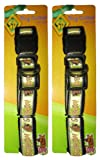 Scooby Doo (2 Pack) Large Adjustable Yellow Collar with Clip & Ring