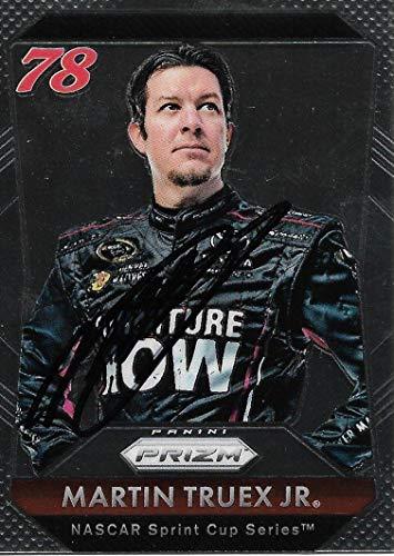 2016 Panini Prizm Martin Truex Jr Signed Auto NASCAR Trading Card - Panini Certified - Autographed NASCAR Cards
