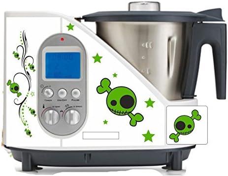 Robot de cocina pegatinas Calavera Verde apta para SC 100: Amazon.es