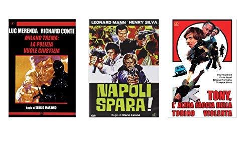 Offerta 3 DVD Film Polizieschi, Milano Trema, Napoli Spara ...