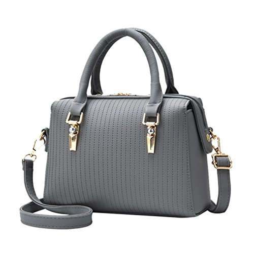 Soft Convenient Lattice Messenger Single Strap Bag Shoulder Grey Comfortable Soild Female Color Durable Handbag ZhiYuanAN wxgSRfXywq