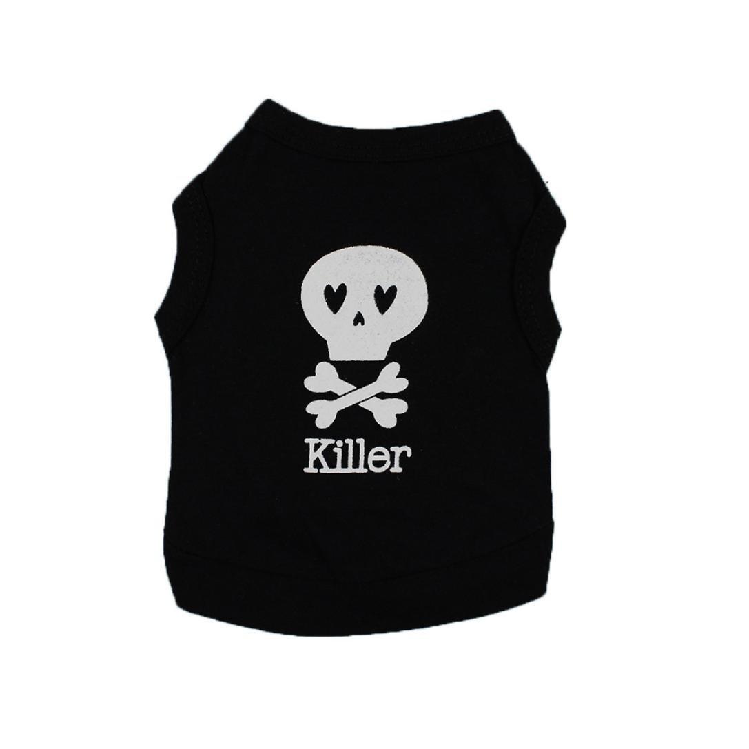 e2d2bed948ab Amazon.com: Pet T-shirt, Hot Sale! Tloowy Cotton Summer Pet Clothes Dog Cat  Puppy Cute Skull Print Vest Shirts Tank Top for Small Medium Dog: Sports &  ...