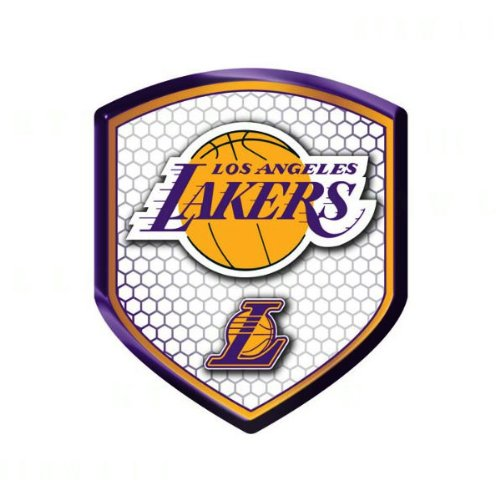 Officially Licensed NBA Shield Reflector Sticker - Los Angeles Lakers by Team ProMark