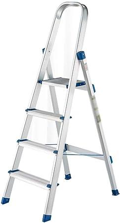 XuQinQin Escalera Plegable for el hogar Taburete Escalera for el hogar Estable Taburete Plegable de Aluminio Escalera Plegable Decorativa banquetas (Color : A): Amazon.es: Hogar