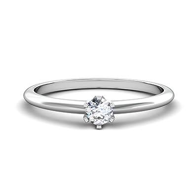 0 1 Carat Diamond White Gold Engagement Ring With Diamond 585 White