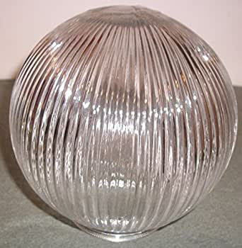Go Bath Fitter >> Replacement Clear Ribbed Glass 6 Inch Globe with 3 1/4 ...