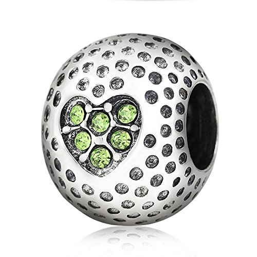 Golf Charm 925 Sterling Silver Ball charm Sport Charm Christmas Charm for DIY Charm Bracelet ()