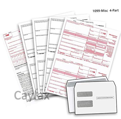 Order 1099 Forms (Complete 1099 Misc Forms for 2018 and 1096 Tax Form and Self-Seal Envelopes | All 1099 Forms Included in One Value Pack | Government Approved 2018 Tax Forms | Kit for 10 Vendors)