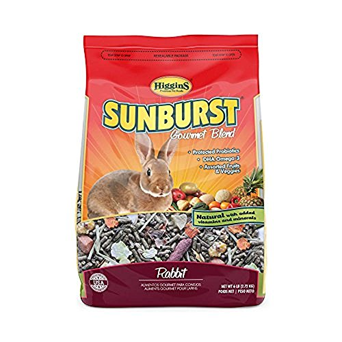 Higgins Sunburst Gourmet Rabbit Food Mix, 6 Lbs, Large ()