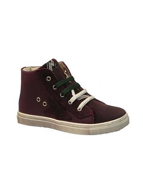 Euro Bimbi Shoes sneakers alta in pelle BORDEAUX, 27 MainApps