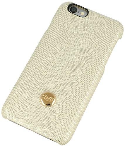 QIOTTI Q. à équilibre snapcase en cuir véritable pour iPhone 6/6S–Cremo