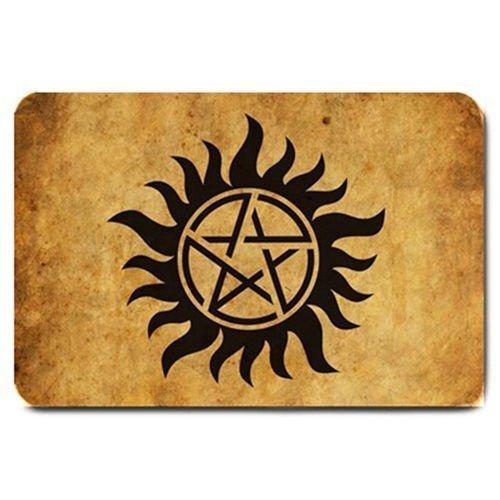 (Supernatural Anti-Possession Demon Devil's Trap Door Mat Rugs Doormat sam Dean h\w: 15.7inch23.6inch)