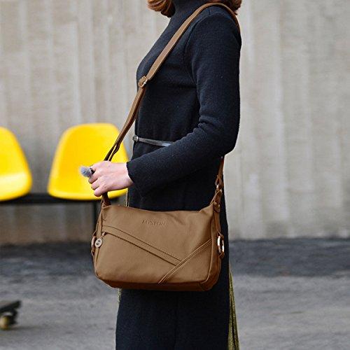 Hobo Tote Women Bag Black Handbags NICOLE PU Travel Leather amp;DORIS Bag Shoulder Purse Crossbody Satchel Khaki p8C0xqA