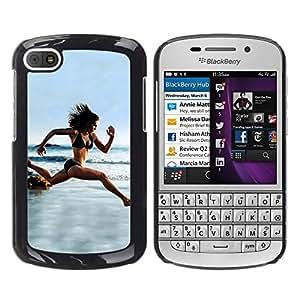 Be Good Phone Accessory // Dura Cáscara cubierta Protectora Caso Carcasa Funda de Protección para BlackBerry Q10 // Woman Running Beach Biking Trim Body