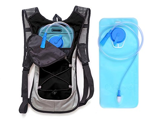 Hydration Backpack&Best Outdoor Gear for Running, Hiking, Cycling and More&Lightweight Pack Keeps Liquid Cool Up to 4 Hours&All Other Outdoor Sports Where You Need Water (black)