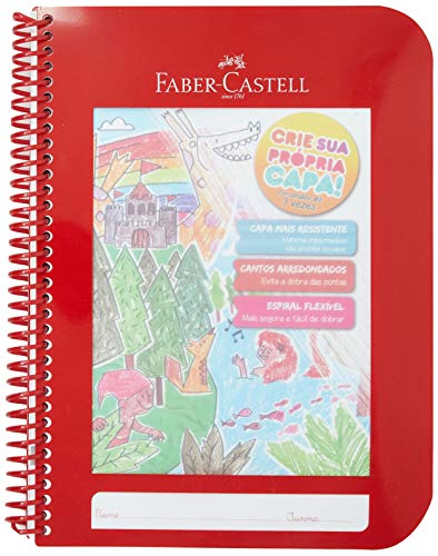Caderno Criativo Faber-Castell, Vermelha