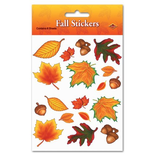 Fall Leaf Stickers   (4 (Stationary Stickers)
