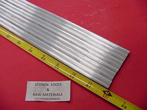 10 Pieces 1/4'' Aluminum 6061 Round Rod 48'' Long T6511 Solid .25'' Lathe Stock 40'