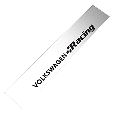 Silver Background Demupai Front Windshield Banner Decal Vinyl Car Stickers for Volkswagen Racing