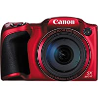 Canon PowerShot SX400 Digital Camera with 30x Optical Zoom (Red) International Version (No warranty)