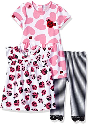 The Children's Place Baby Girls Playwear Bundle, Black, 12-18MOS