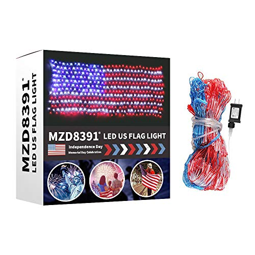 MZD8391 Waterproof American US Flag LED String Light--USA Fl