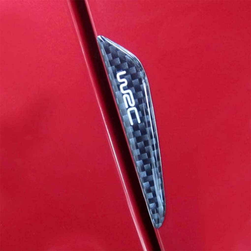 fgyhty 4pcs Anti-Scratch Black Carbon Fiber Car Door Edge Protector Guards Trims Strip Stickers Bars