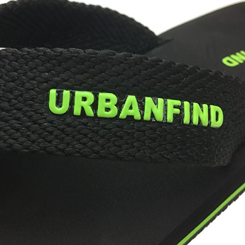 Black Comfortable Athletic Flops Flip Sandals Supportive Thong Men's Slippers Beach URBANFIND SnYqwtvH