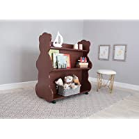 Ace Baby Furniture Bear Mobile Double-Sided Bookcase, Cherry