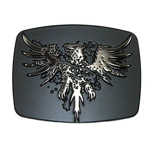 Chrome Phoenix Belt Buckle, Silver (Buckle Belt Mossberg)