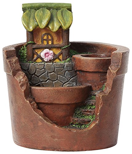 Winsome House Treehouse Planter Miniature Fairy Garden