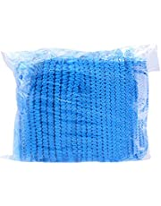 EXCEART 200Pcs Disposable Bouffant Caps Hair Head Cover Net for Medical Labs Nurse Tattoo Food Service Health Hospital Salon Blue