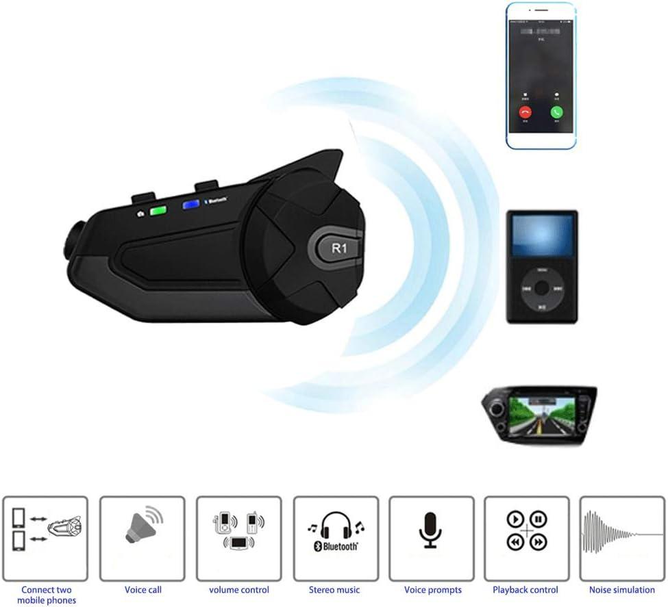 Bonbela R1 Cam/éra HD Moto WiFi Bluetooth pour Casque Intercom Capture vid/éo WiFi Transmission Voir Accessoires Moto Casque