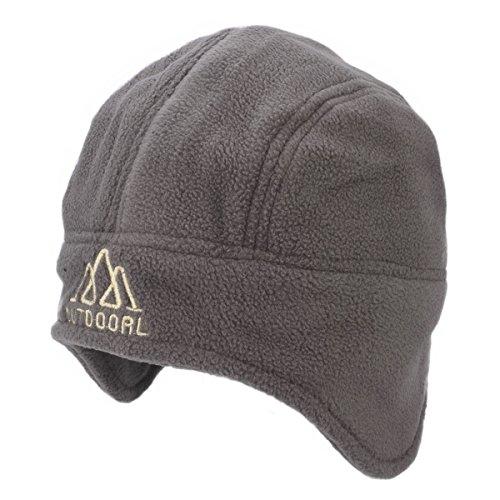 Flammi Men/Women's Fleece Earflap Hat Beanie (Grey)