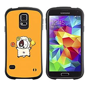 TopCaseStore Hybrid Rubber Case Hard Cover Protection Skin for SAMSUNG GALAXY S5 - Cute Lamb