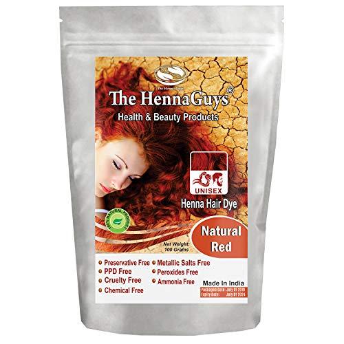 Natural Red Henna Hair Color/Dye 100 Grams - The Henna Guys (Best Copper Red Hair Dye For Dark Hair)